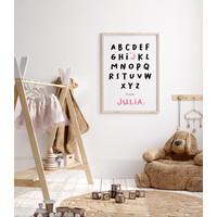 ABC is voor Poster - Geboorteposter te personaliseren
