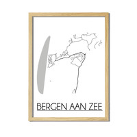 Bergen aan Zee Plattegrond poster