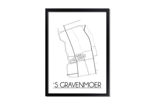 DesignClaud 's Gravenmoer Plattegrond poster