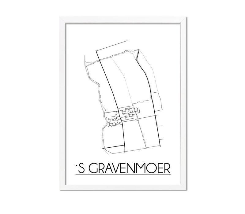 's Gravenmoer Plattegrond poster