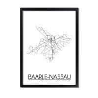 Baarle-Nassau Plattegrond poster