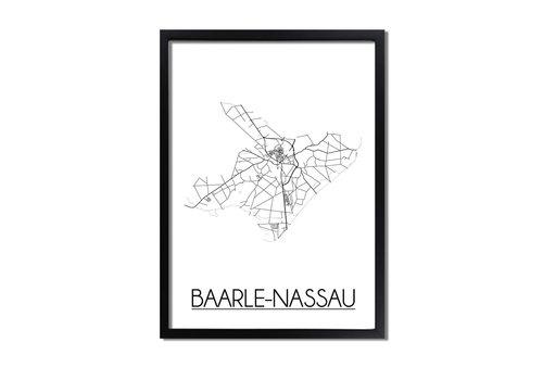 DesignClaud Baarle-Nassau Plattegrond poster