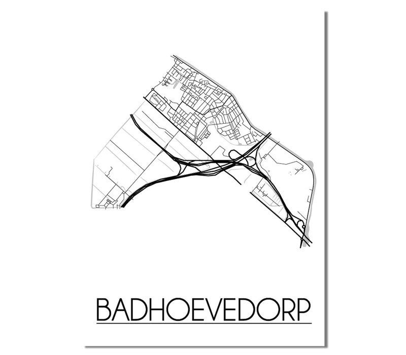 Badhoevedorp Plattegrond poster