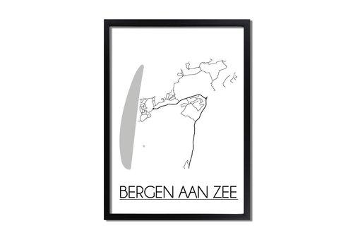 DesignClaud Bergen aan Zee Plattegrond poster