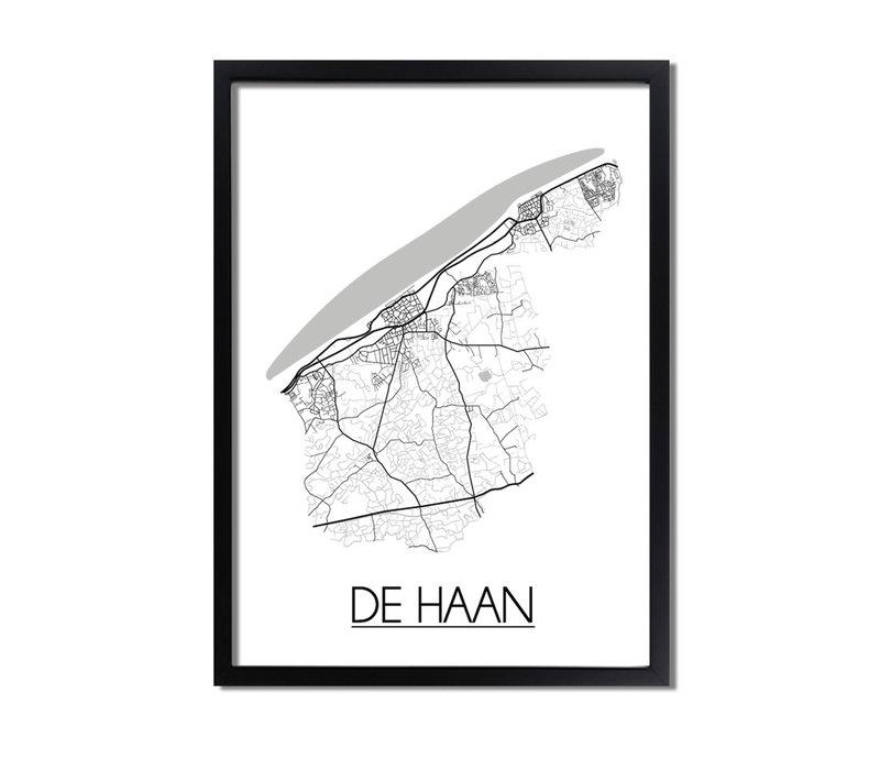 De Haan Plattegrond poster