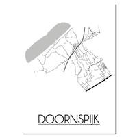 Doornspijk Plattegrond poster
