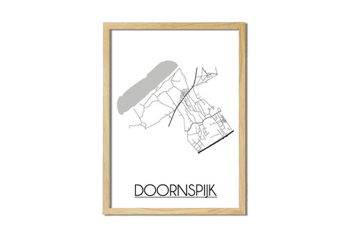 DesignClaud Doornspijk Plattegrond poster