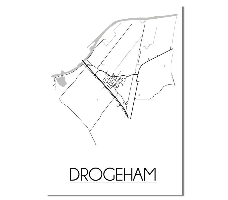Drogeham Plattegrond poster