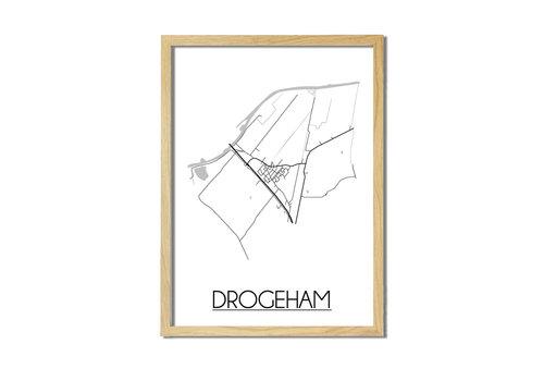DesignClaud Drogeham Plattegrond poster