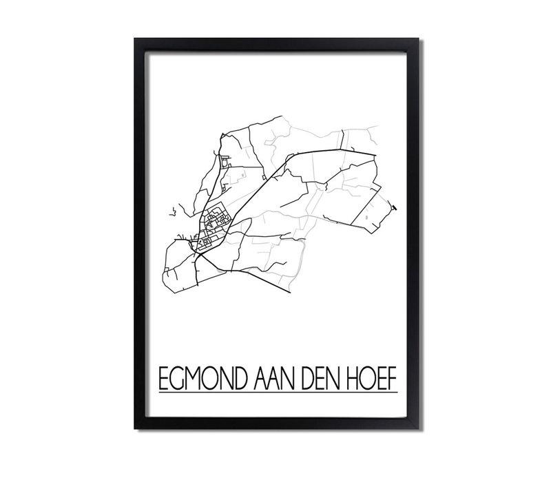 Egmond aan den Hoef Plattegrond poster