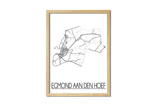 DesignClaud Egmond aan den Hoef Plattegrond poster
