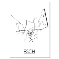 Esch Plattegrond poster