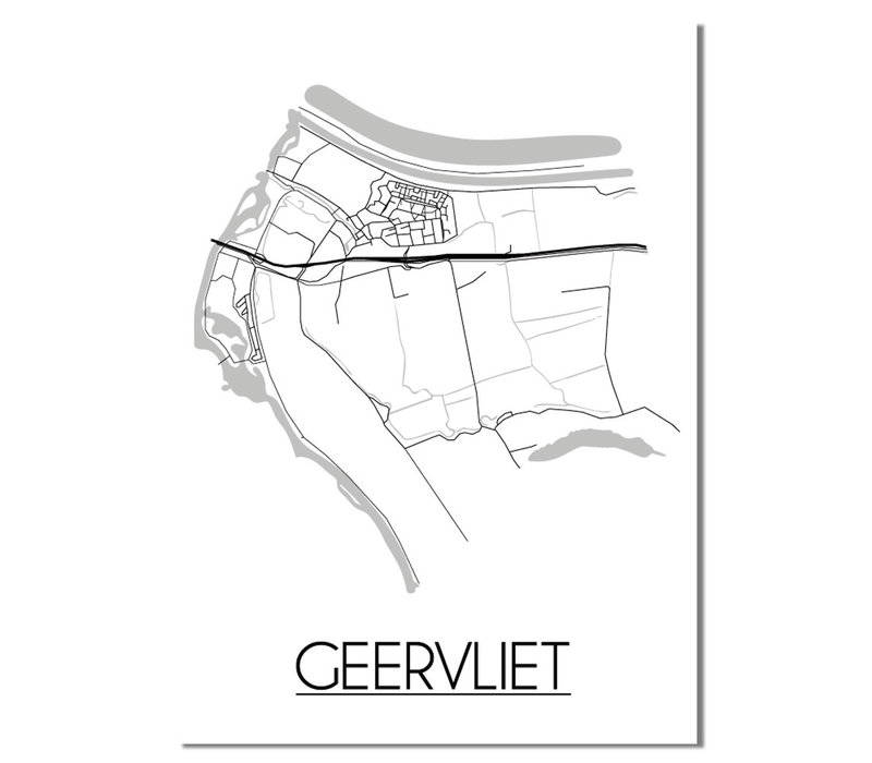 Geervliet Plattegrond poster
