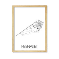 Heenvliet Plattegrond poster