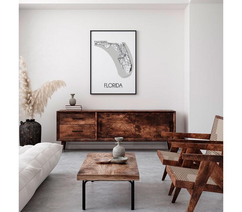 Florida Plattegrond poster