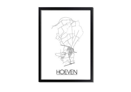 DesignClaud Hoeven Plattegrond poster