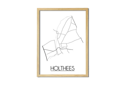 DesignClaud Holthees Plattegrond poster