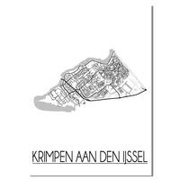 Krimpen aan den IJssel Plattegrond poster