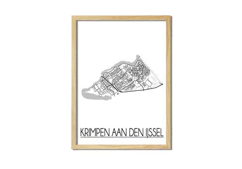 DesignClaud Krimpen aan den IJssel Plattegrond poster