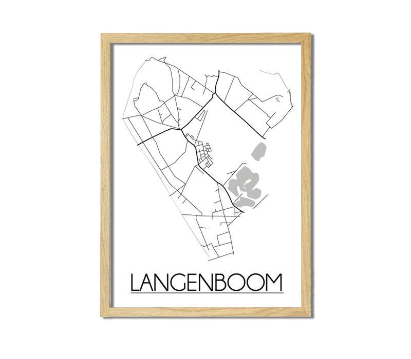Langenboom Plattegrond poster