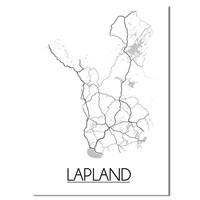 Lapland Plattegrond poster