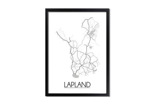 DesignClaud Lapland Plattegrond poster
