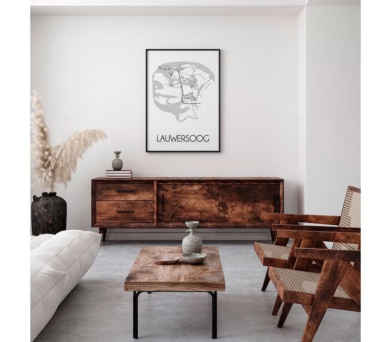 Lauwersoog Plattegrond poster