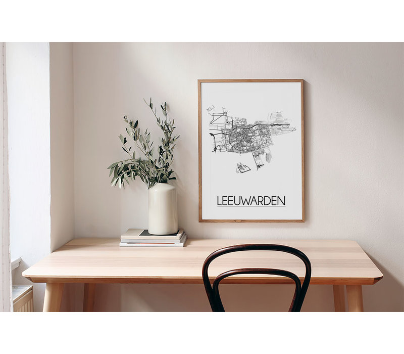 Leeuwarden Plattegrond poster