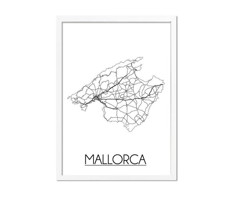 Mallorca Plattegrond poster