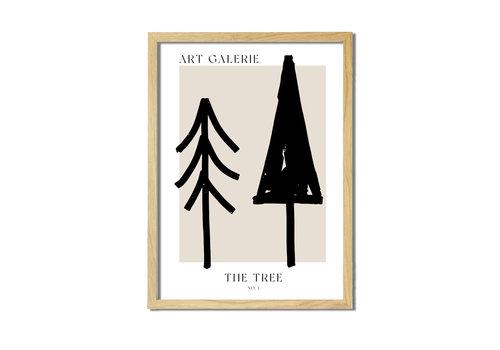DesignClaud Kerstposter ART GALERIE Bomen - Zwart