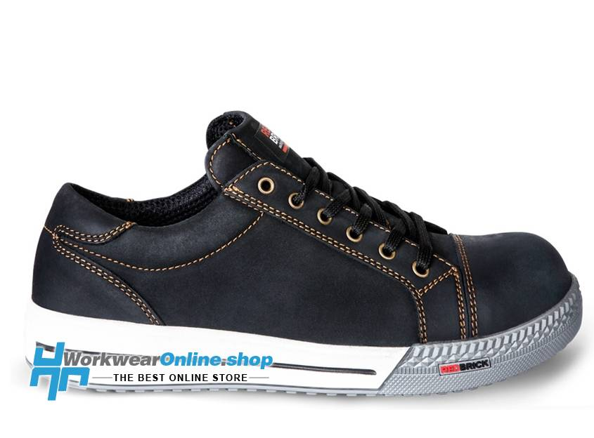 RedBrick Safety Sneakers Ladrillo rojo bronce negro s3