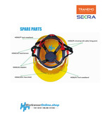 Secra Veiligheidshelmen Bandeau anti-transpiration arrière Secra