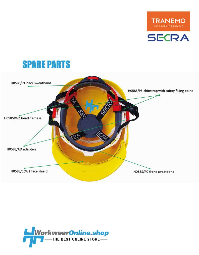 Secra Veiligheidshelmen Secra zweetband achter