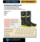 Buckbootz Safety Boots Buckbootz BBZ8000 Zwart/Geel