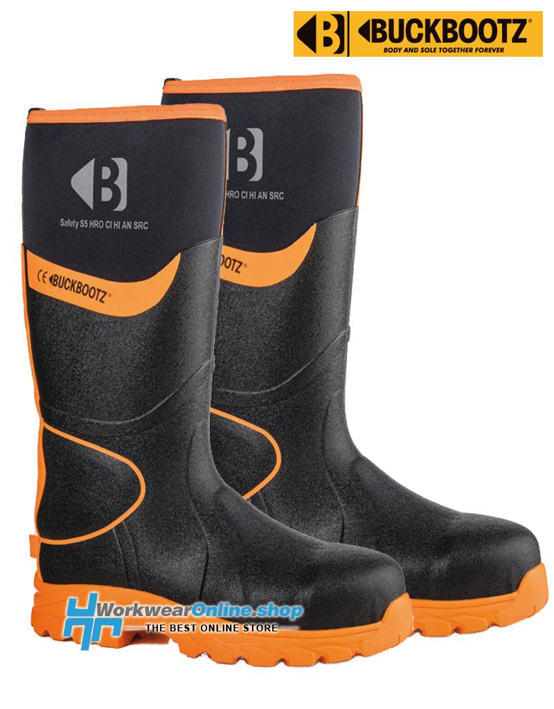 Buckbootz Safety Boots Buckbootz BBZ8000 Schwarz / Orange