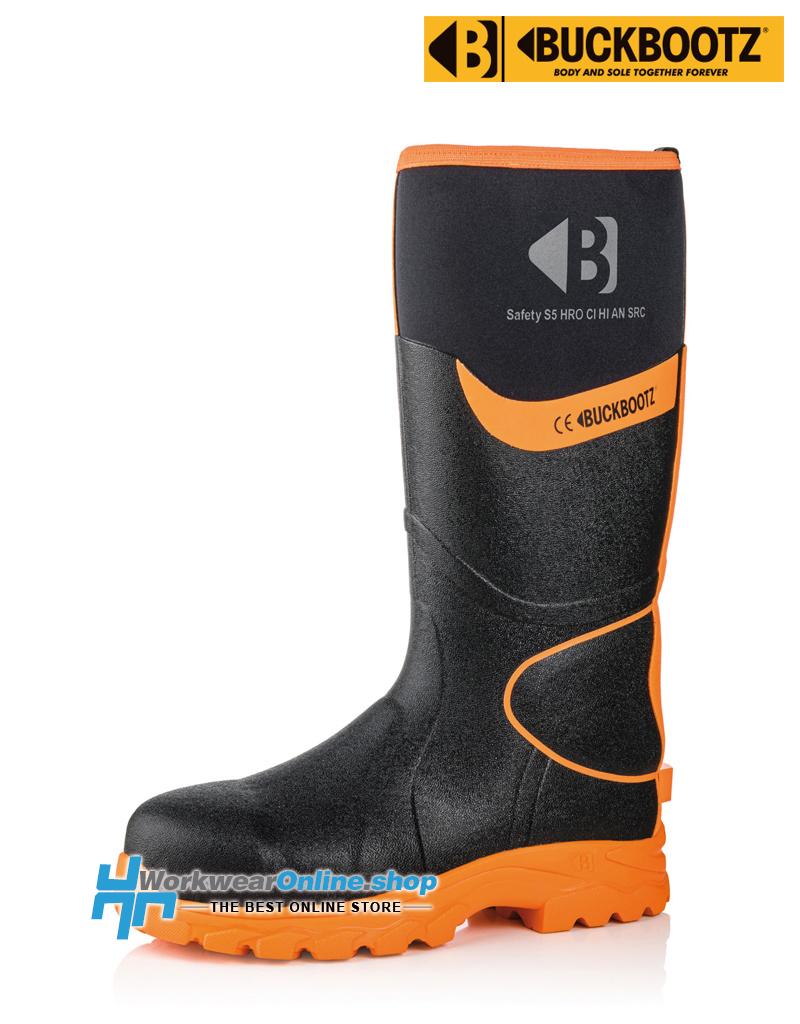 Buckbootz Safety Boots Buckbootz BBZ8000 Black / Orange