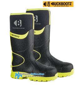 Buckbootz Safety Boots Buckbootz BBZ8000 BK/YL
