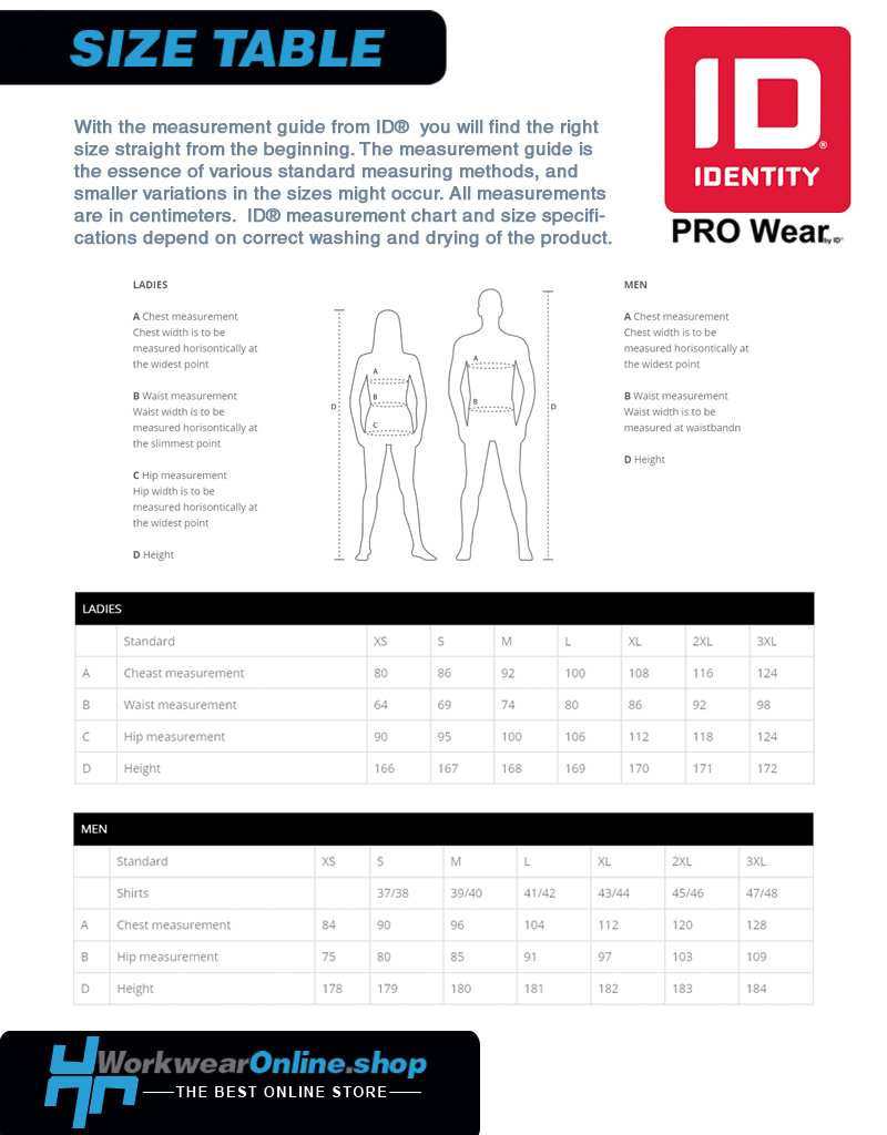Identity Workwear ID Identity 0320 Pro Wear Heren Poloshirt [deel 2]