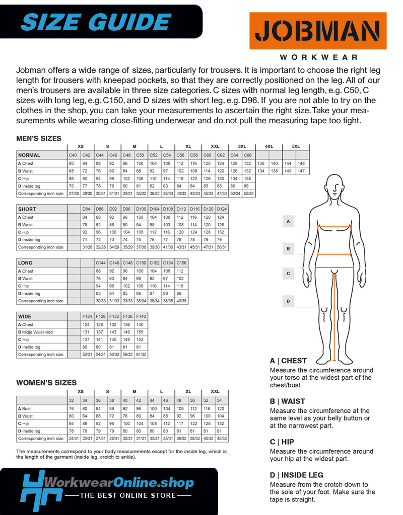 Jobman Workwear Jobman Workwear 2195 [three-quarter] Stretch Long Shorts HP