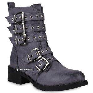 Biker boots Supreme - Grijs/blauw