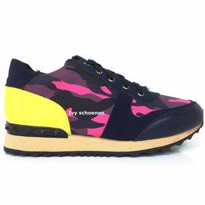 Sneakers Marcello - Roze+Geel