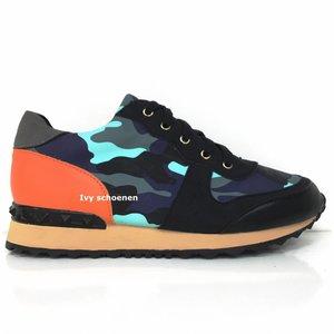 Sneakers Marcello - Blauw+Oranje