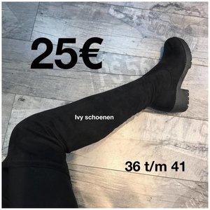 Over-knee laars JUST - Zwart
