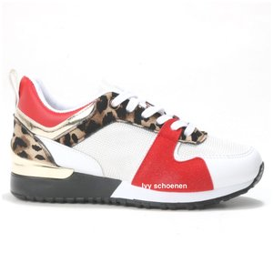 Sneaker KEY WEST - Wit/Rood/Panter