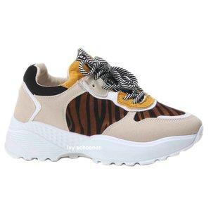 Sneaker LORENZO – Geel/Panter