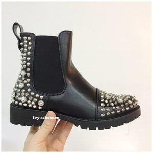 Boots GUIDO - Zwart /Zilver