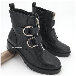 Boots TAKE - Zwart/Croco