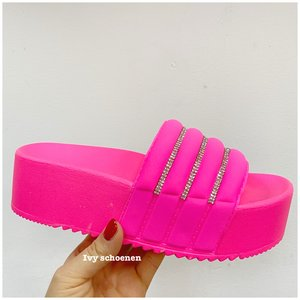 Slippers FORCELLA - Fuxia/Roze