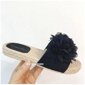 Slippers NERIDA - Zwart