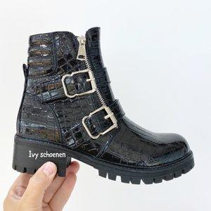 Boots AAREND CROCO SHINE- Zwart